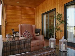 Casa Natura Rosso 165 dúplex Casas Natura Balcones y terrazas de estilo moderno
