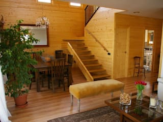 Modern Corridor, Hallway and Staircase by Casas Natura Modern