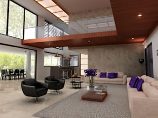 MATRADI - INFOGRAFÍA 3D Ruang Keluarga Modern