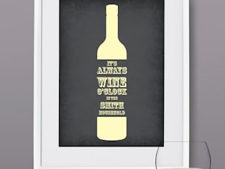Personalised Print - Wine O'Clock:   by MAYKI