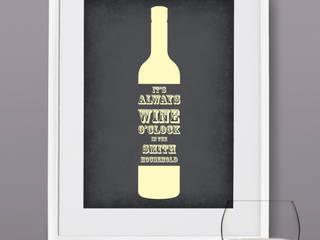Personalised Print - Wine O'Clock: modern  by MAYKI , Modern