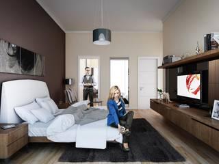 Nurol モダンスタイルの寝室 の REDWHITE CA モダン