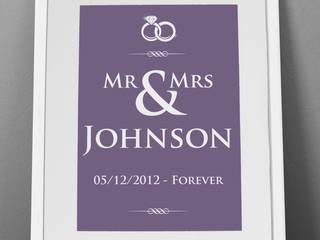Personalised Print - Wedding Rings: modern  by MAYKI , Modern