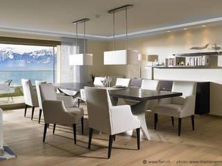"""Privat Residenz """"Les Dents du Midi"""" Moderne Wohnzimmer von Innenarchitektur und Design Dalpiaz Modern"""