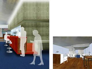 Fotomontaje zona bar:  de estilo  de LAURA ESTEVEZ  //  INTERIORISTA & PAISAJISTA