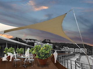 Fotomontaje terraza:  de estilo  de LAURA ESTEVEZ  //  INTERIORISTA & PAISAJISTA