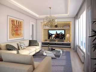 villa art – 3d max proje çalışmamız.: modern tarz , Modern