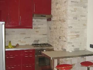 Ristrutturazione appartamento Roma: Cucina in stile in stile Moderno di QUARZO ARCHITETTI