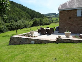 Barn conversion Somerset:  Terrace by Laurence Maunder Garden Design & Consultancy