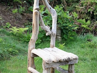 Driftwood Chairs: rustic  by Julia's Driftwood, Rustic