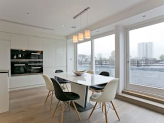 Adamson Road, Swiss Cottage, London, NW3 Comedores de estilo moderno de Temza design and build Moderno