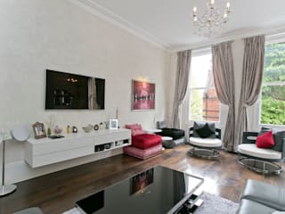 Courtfield Road, Kensington, London, SW7 Salones de estilo moderno de Temza design and build Moderno