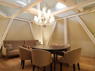 Penthouse Zürich 250m2: moderne Esszimmer von Iria Degen Interiors