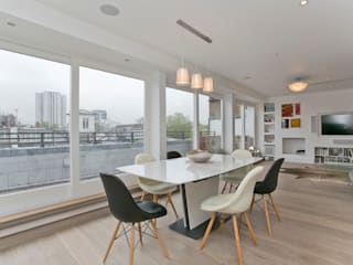 Adamson Road, Swiss Cottage, London, NW3 Modern Yemek Odası Temza design and build Modern