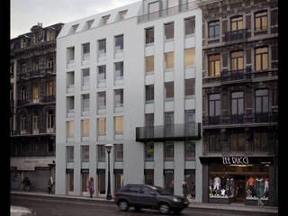 Description du parti urbanistique: Maisons de style  par altiplan°architects