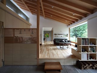 Livings de estilo moderno de 株式会社 遠藤建築アトリエ Moderno