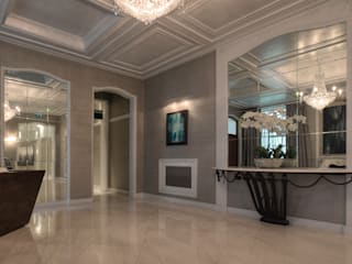 Upper Brook Street, Mayfair, London, W1K Modern Corridor, Hallway and Staircase by Temza design and build Modern