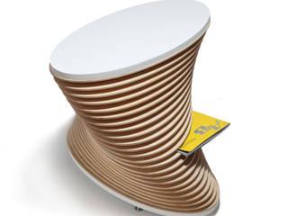 KLIFF - stolik kawowy z funkcją gazetnika od OM STUDIO Nowoczesny