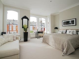 Narbonne Avenue Clapham Bolans Architects Modern style bedroom
