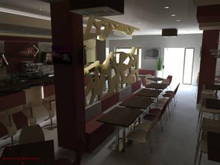 Lounge bar Comedia Bar & Club moderni di Dadesign Interior Designer Moderno