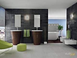Concept Interior Design: Bagno in stile  di Studio Piraf