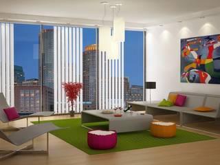 Concept Interior Design Soggiorno moderno di Studio Piraf Moderno