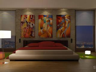 Concept Interior Design Camera da letto moderna di Studio Piraf Moderno