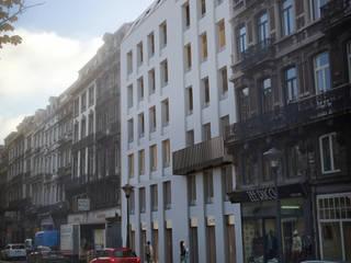 Façade rue Léopold: Maisons de style  par altiplan°architects