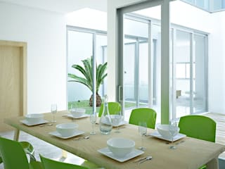 Casa a patio Cucina moderna di Studio Piraf Moderno