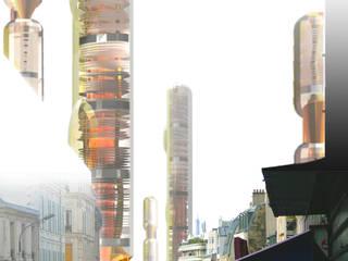 Vertical urban biotope Lieux d'événements modernes par XLGD architectures Moderne