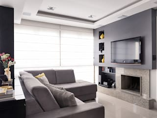 Living room by Blacher Arquitetura,
