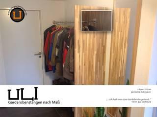 Garderobestangen Edelstahl I-Form:   von ULI Garderoben