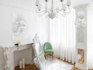 """квартира """"Белый шум"""": Спальни в . Автор – 'Живые вещи 'Максимовых- Павлычевых', Классический"""