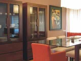 Apartamento c/ 2 quartos - Parque das Nações, Lisboa: Salas de jantar  por Traço Magenta - Design de Interiores