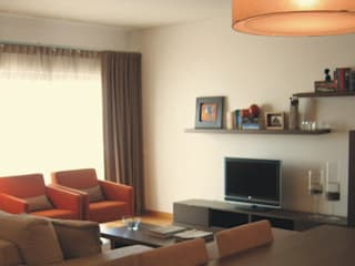 Apartamento c/ 2 quartos - Laranjeiras, Lisboa Salas de estar modernas por Traço Magenta - Design de Interiores Moderno