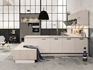 Wood Kitchens Industrial style kitchen by LWK London Kitchens Industrial