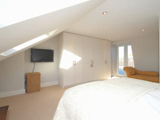 l-shaped dormer loft conversion balhaml-shaped dormer loft conversion balham:  Bedroom by nuspace