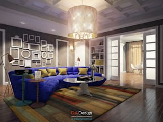 Eclectic style living room by DA-Design Eclectic