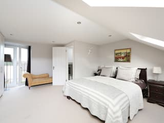 l-shaped dormer loft conversion balham:  Bedroom by nuspace