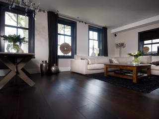 Brede Wenge vloerdelen:  Woonkamer door Pruysen Parket BV