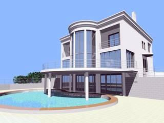 Progetto di un villino Case moderne di Studio Tecnico Atorino Moderno