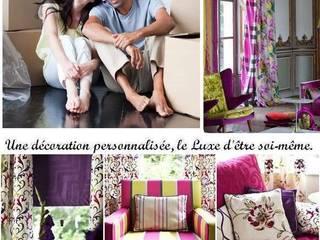Décoration  sur mesure en TOILE DE JOUY rideau et tissu haut de gamme:  de style  par Rideau-voile, Moderne