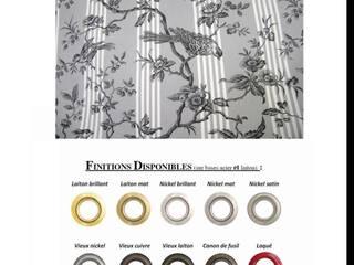 Décoration  sur mesure en TOILE DE JOUY rideau et tissu haut de gamme:  de style  par Rideau-voile, Classique