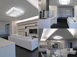 Appartamento su litorale romano Soggiorno minimalista di Lorenzo Pagnini Architetto Minimalista