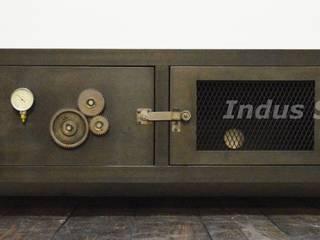 Création meuble TV industriel XXL par Indus Spirit Industriel