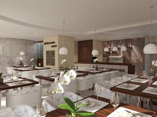 3D interior design ProAmbient Hotel in stile mediterraneo di ProAmbient Mediterraneo