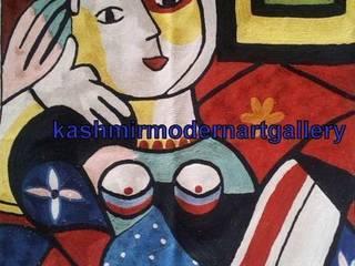 picasoo silk Wall art rug:  Living room by kashmir modernart gallery