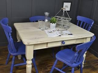 Blue & White Farmhouse Dining Set de The Treasure Trove Shabby Chic & Vintage Furniture Rural
