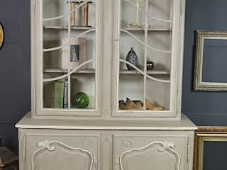 French Glass Display Cabinet with Cupboard od The Treasure Trove Shabby Chic & Vintage Furniture Klasyczny