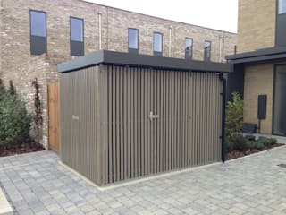 Garage/shed by Modular105.co.uk, Modern
